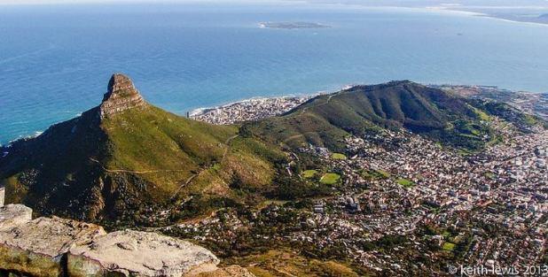 Escala en Table Mountain, Ciudad del Cabo, Sudáfrica