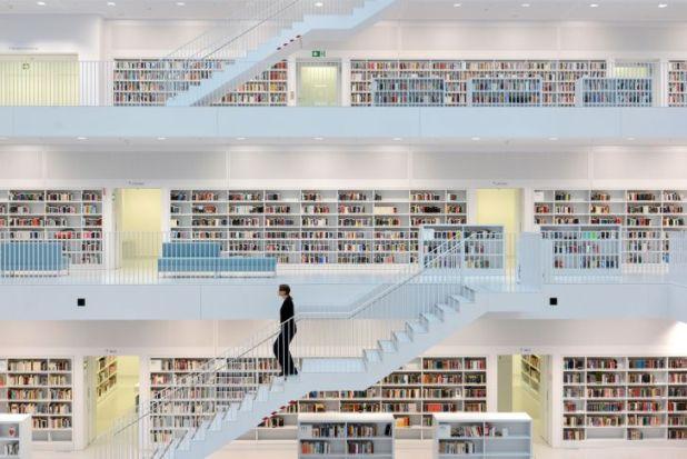 Biblioteca de la ciudad de Stuttgart, Alemania
