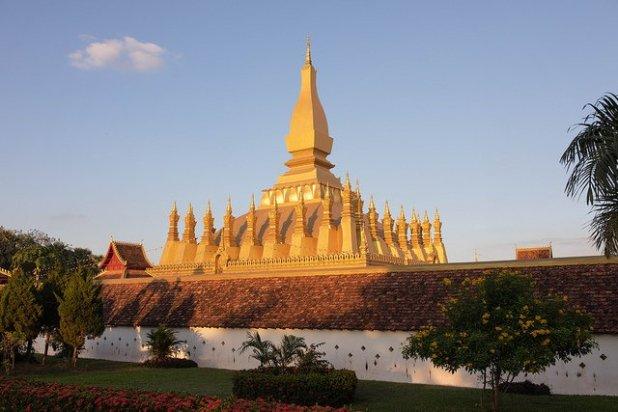 At Pha That Luang (Laos)