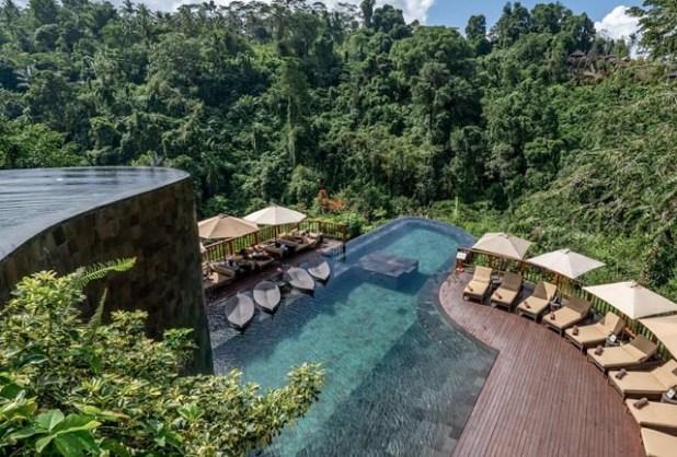 Jardines colgantes de Ubud, Bali, Indonesia