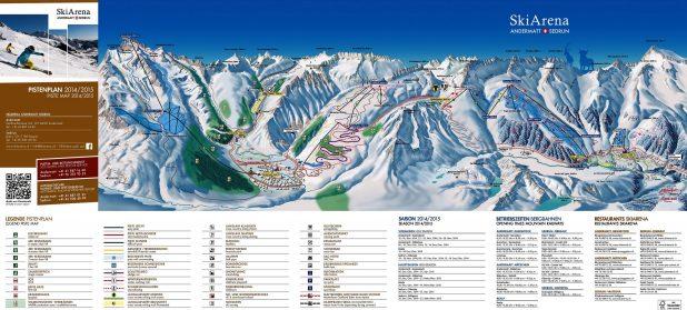 Mapa de la estación de esquí de Andermatt