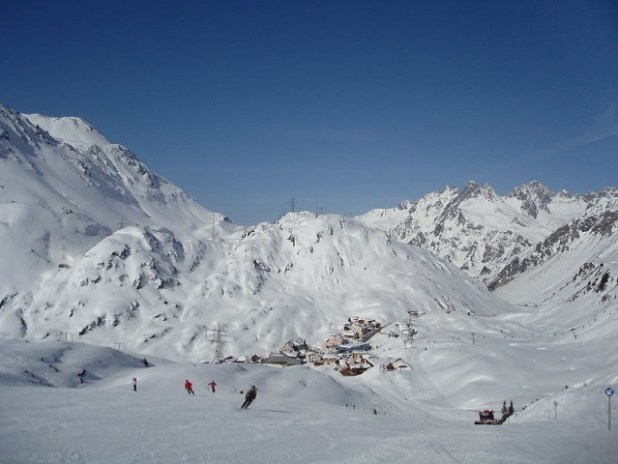 Esquiando en St. Christoph (Suiza)