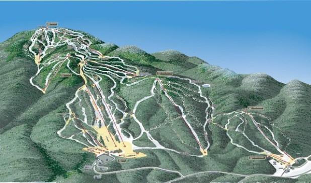 Gore Mountain Mapa de pistas