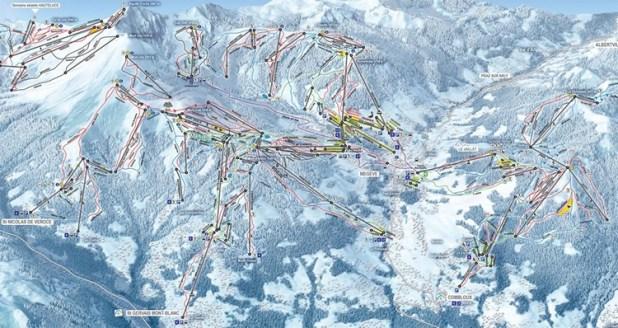 Mapa de pistas de Megève
