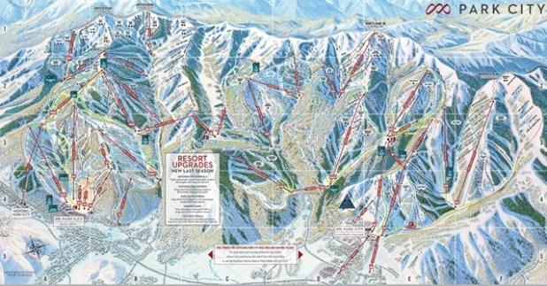 Mapa de pistas de esquí de Park City