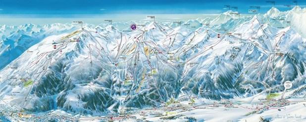 Mapa de pistas de Serre Chevalier