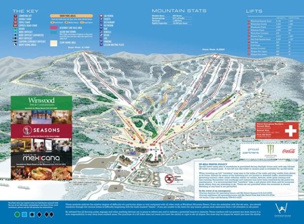 Windham Mountain (mapa de pistas de esquí)