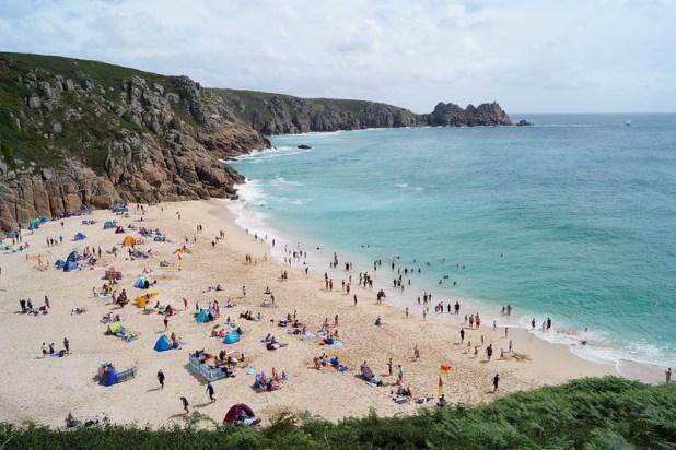 Porthcurno beach (Cornwall, Inglaterra)