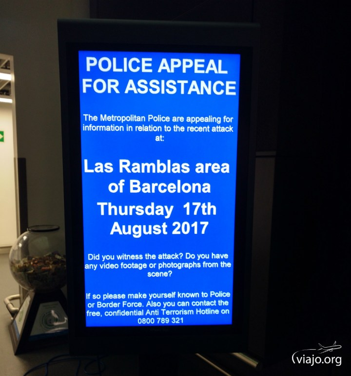 Aeropuerto de Bristol - Pedido de colaboración - Atentados de Cataluña