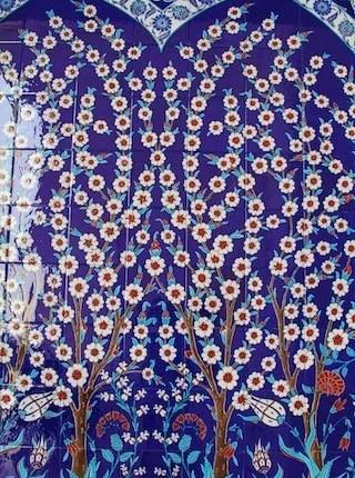 Mosaico na Mesquita de Abu Dhabi