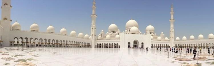 Panorâmica Mesquita de Abu Dhabi1