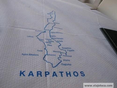 Karpathos mapa