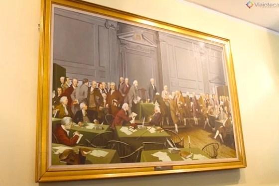 Congresso Federal de 1787 em Philadelphia no Independence Hall