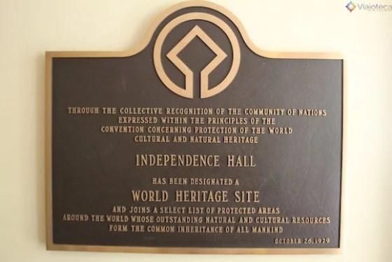 Independence Hall patrimonio Mundial da Humanidade
