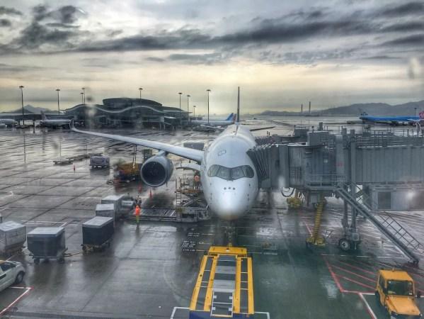 Avião Singapore Airlines A350-900 Hong Kong