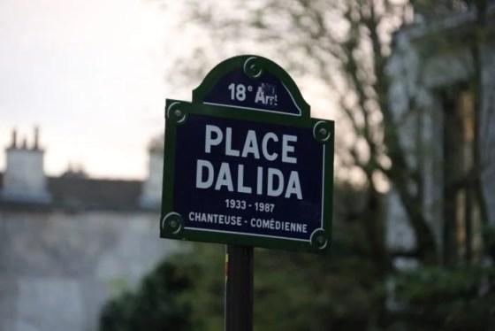 Praça Dalida e a rua mais bonita de Montmartre