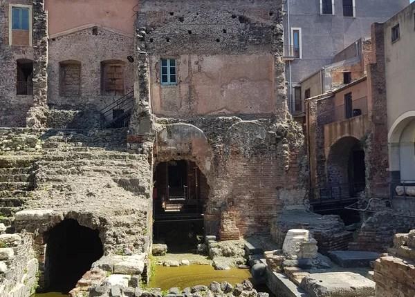 Teatro Romano de Catânia palco4