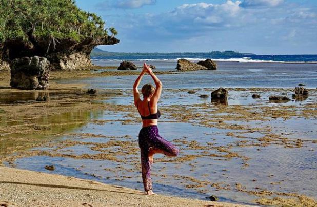 La postura del árbol en yoga