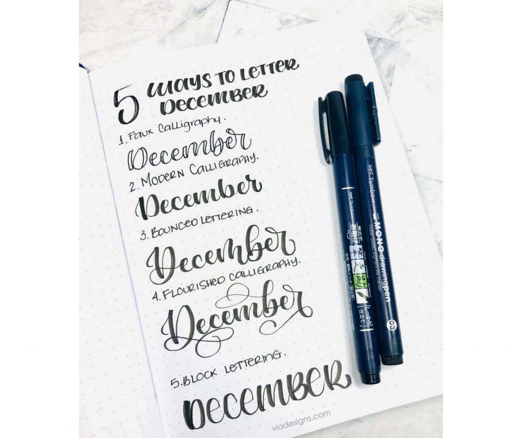 5 Ways To Letter December Free Worksheet