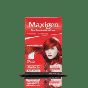Maxigen Tinte Permanente en Polvo Color Rojo Cobrizo 26
