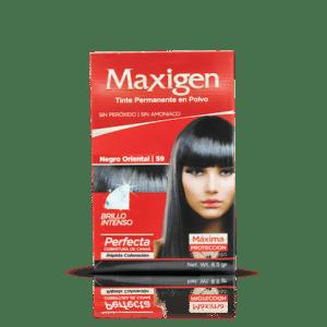 Maxigen Tinte Permanente en Polvo Color Negro Oriental 59