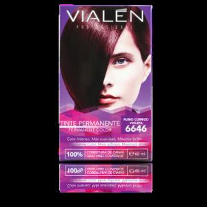 Vialen Tinte Permanente Color Rubio Cobrizo Violeta 6646