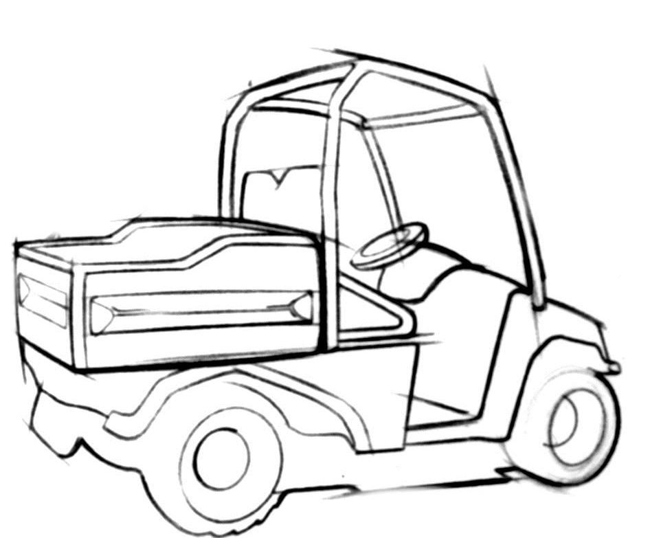 Polaris Ranger Coloring Sheets Pages Sketch Coloring Page