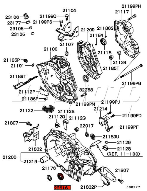 Viamoto Mitsubishi Car Parts Front LH Differential