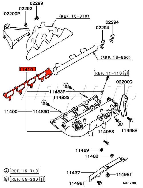 Viamoto Mitsubishi Car Parts Inlet Manifold Gasket
