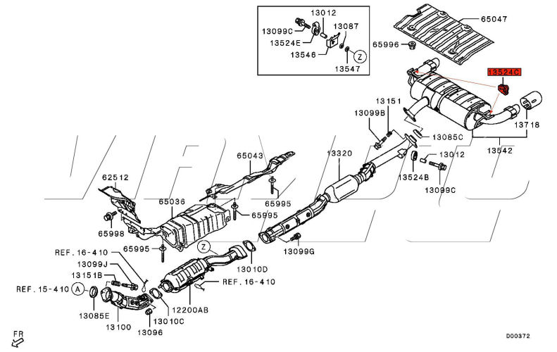 2003 Mitsubishi Outlander Exhaust Diagram Html