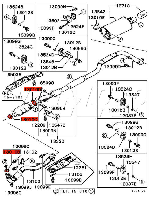 2007 Mitsubishi Eclipse Engine Diagram Catalytic Converter