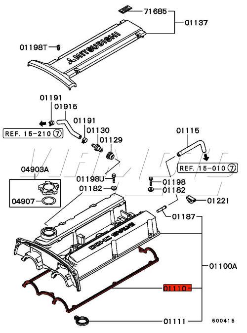 Viamoto Car Parts, Mitsubishi Lancer EVO 4 CN9A Parts, EVO