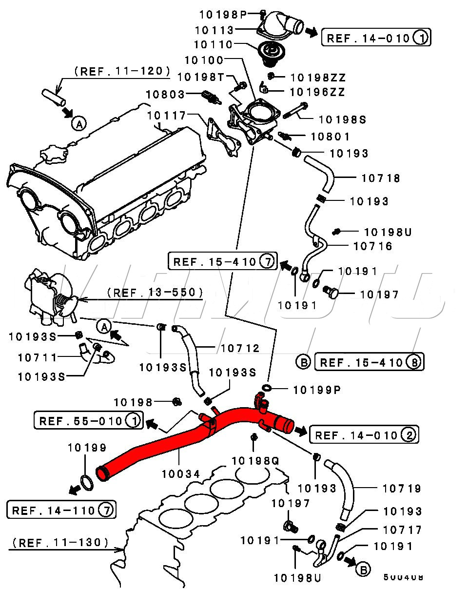 Viamoto Car Parts, Mitsubishi Lancer EVO 5 6 CP9A Parts