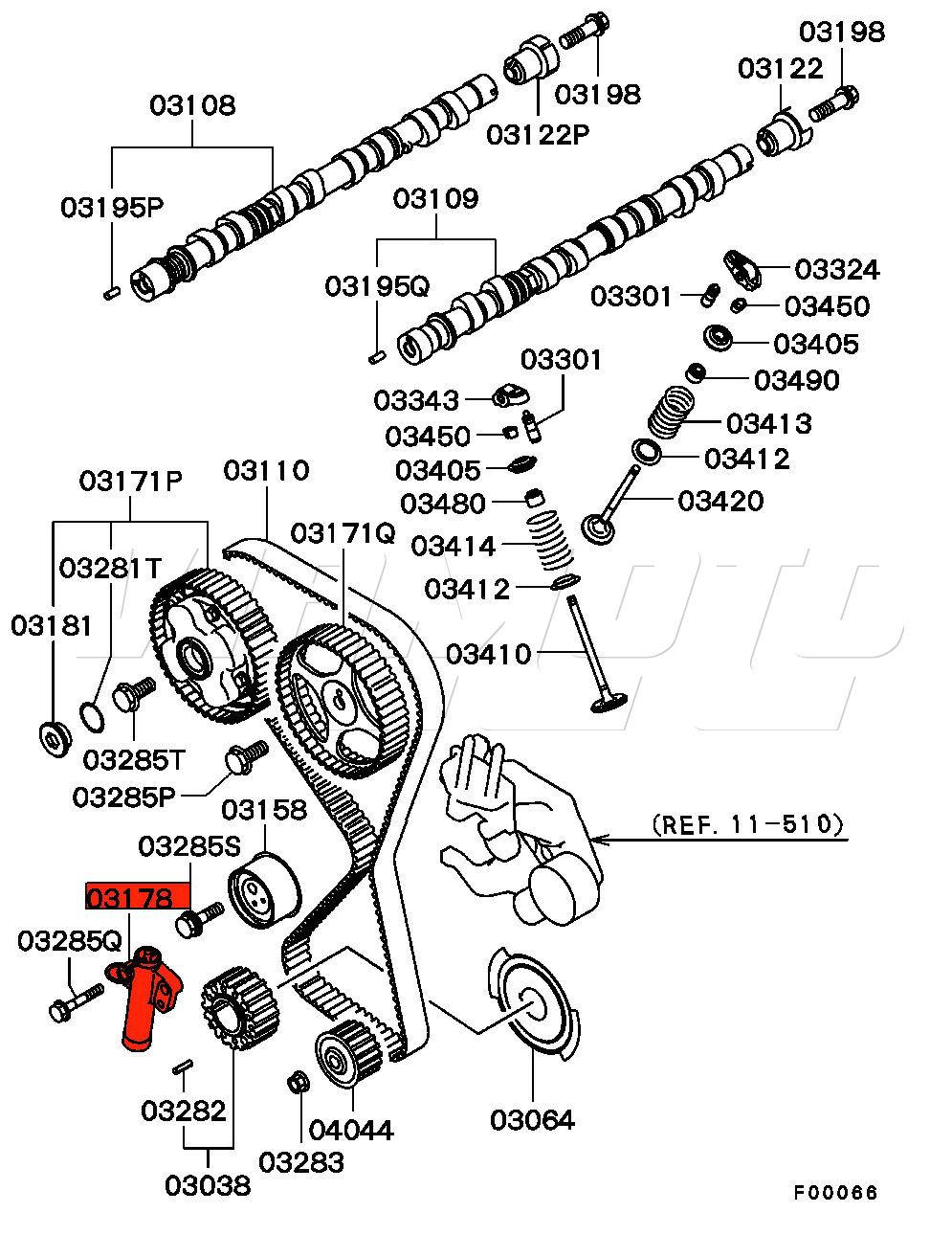 medium resolution of viamoto mitsubishi car parts hydraulic cambelt tensioner rh viamoto co uk evo engine schematic diagram of 2006 harley davidson motor