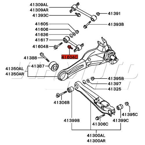 Viamoto Mitsubishi Car Parts Bolt Short Dogbone to