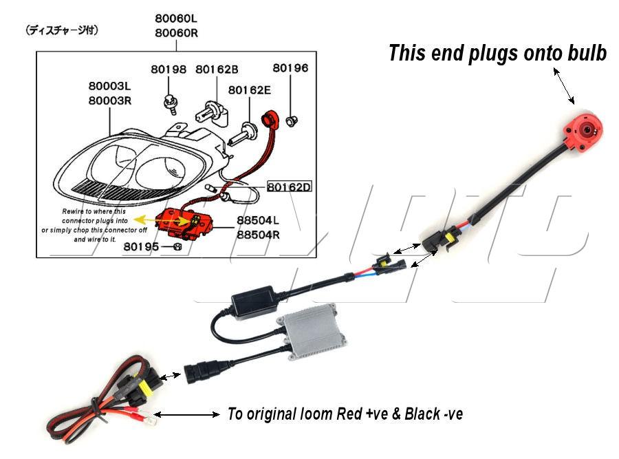 Viamoto Mitsubishi Car Parts HID Ballast Replacement Kit