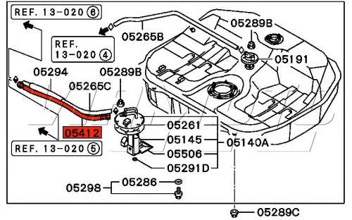 Viamoto Mitsubishi Car Parts High Pressure Fuel Line to