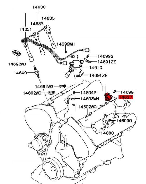 small resolution of see here for where located on engine mitsubishi part number