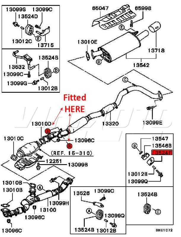 Mitsubishi 3000gt Exhaust System Parts Diagram. Mitsubishi
