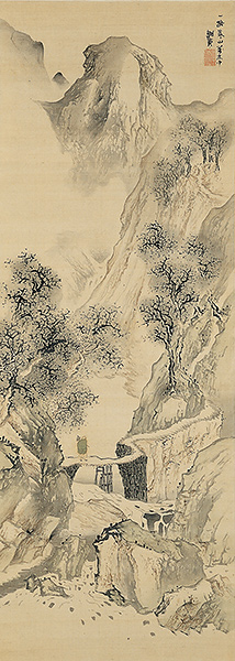 Landscape With a Solitary Traveler, by Yosa Buson (courtesy of the Wikimedia Commons)