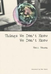 Things We Don't Know We Don't Know