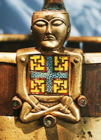 Ornament from a bucket found in the Oseberg mound grave in the county of Vestfold, Norway.