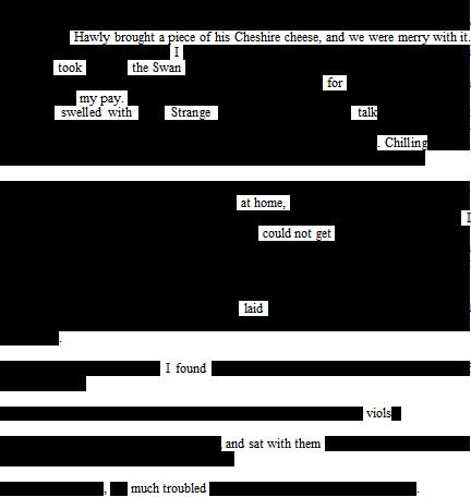Erasure of Samuel Pepys