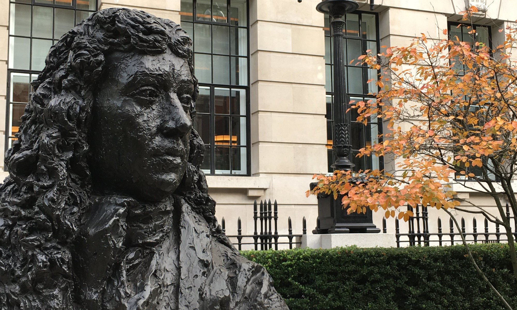 Samuel Pepys bust at Seething Lane