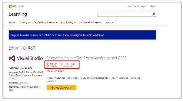 Certificação Microsoft Pearson Vue Vianna Jr passo 4