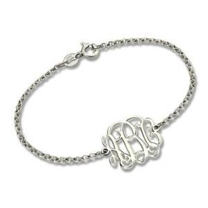 Custom Sterling Silver Monogram Bracelet for Him/Her