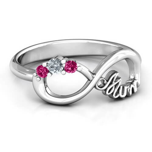 Mum's Infinite Love with Stones Ring