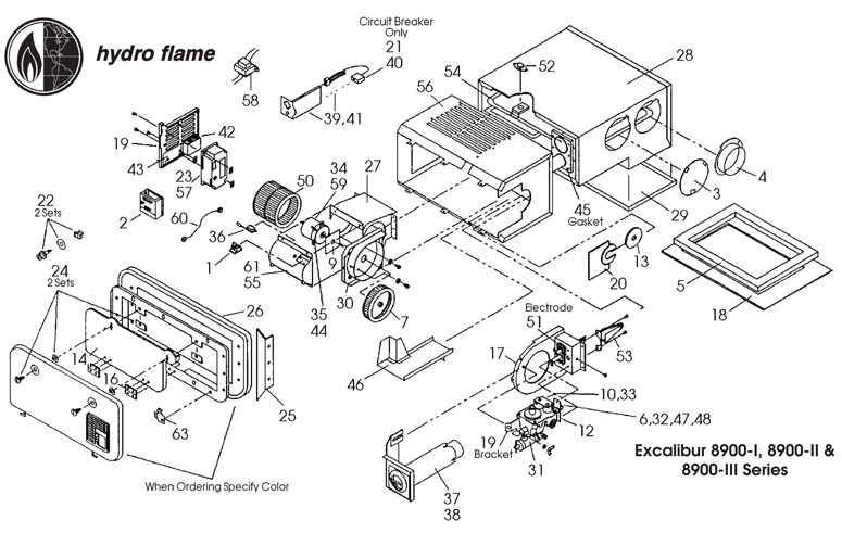 Hydro-Flame / Atwood Furnaces, 8900-III Series