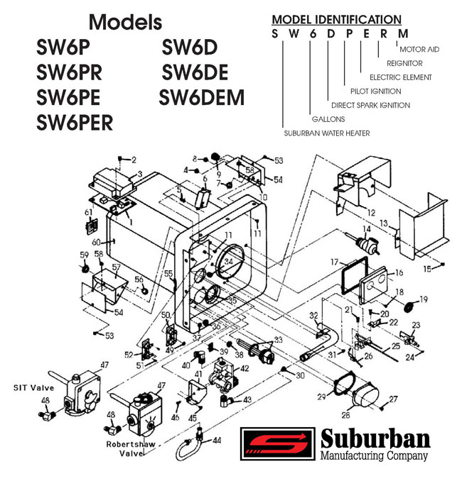 Suburban Rv Water Heater Sw6de Wiring Diagram Suburban RV