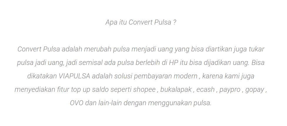 Definisi Convert Pulsa Secara Singkat